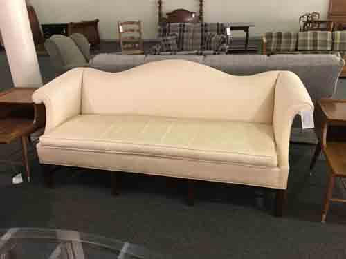 Beige Chippendale Sofa