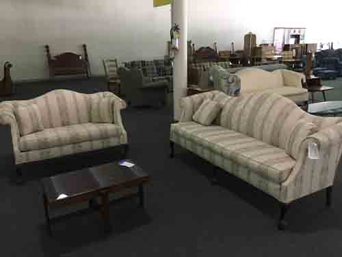 High-leg Sofa and Loveseat