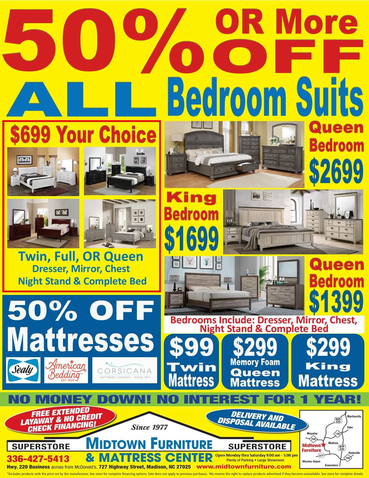 50% or More off Bedroom Sale